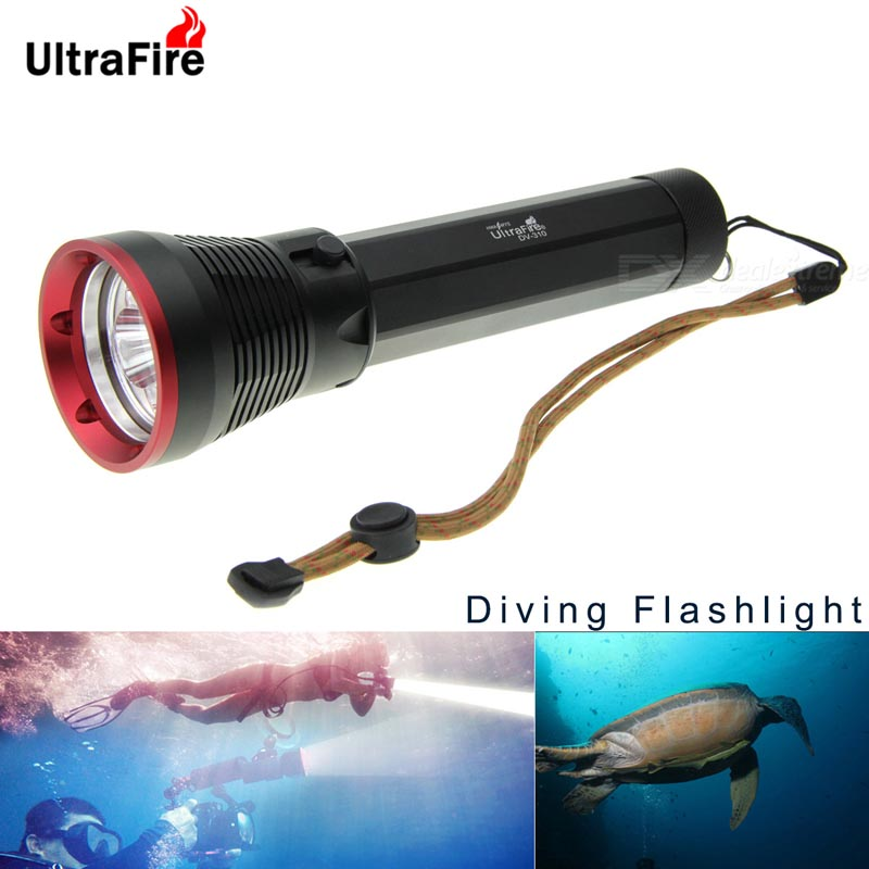 все цены на  Ultrafire DV-310 3600lm 4*XM-L2 U2 LED light ultra bright powerful flashlight Stepless Adjustable Diving Flashlight scuba torch  онлайн