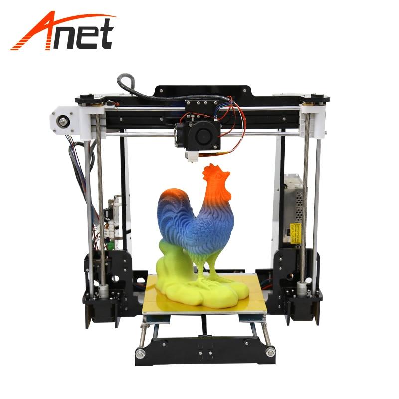Anet A8 Moins Cher cadre acrylique Auto Lit Leveing 3d kit imprimante bricolage En Option 0.4mm Taille Buse Extrudeuse Meilleur Impressora 3d