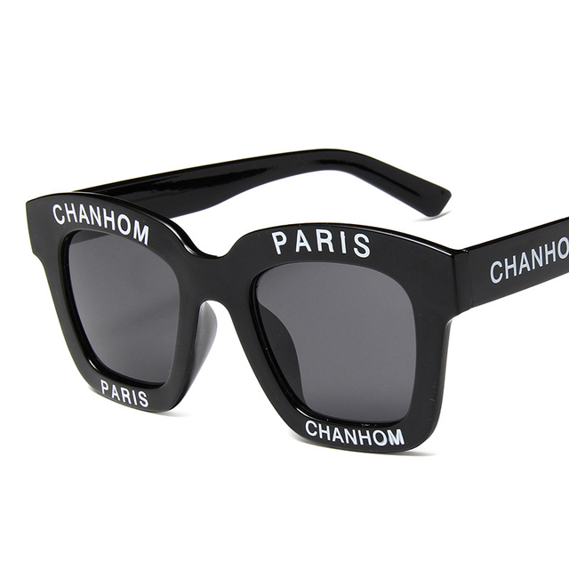 a6937188c3e Oversized Letter Sunglasses Personality Sun Glasses Chanhom Paris Design Sunglass  Men Women Large Frame Driving Eyewears