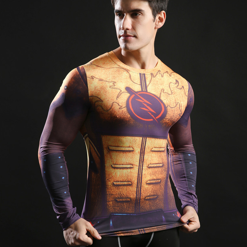 Armor Men Compression shirts Cosplay T shirts Quick Dry Fitness tee Compression Shirt Tight Bodybuilding T-shirt Men Sport Shirt