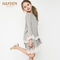 Lace Flower Girl Dresses Long Sleeve Autumn Clothing Fashion Teenage Girl Princess Costume Clothes For Girls