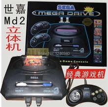 free shipping Sega MD2 TV video game console  games, sega stereoscopic machine, classic card 16 bit sega children game toys