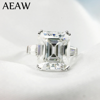 5 carat ct 9x11 мм DF Класс Изумрудное кольцо Обручение и свадьбы Муассанит лабораторный алмаз рубиновое обручальное кольцо из натуральной 14 K 585 Бе