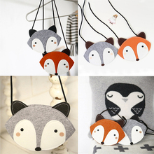 1PC Girls Mini Lovely Children one shoulder bag coin purse cute fox design girls messenger bag baby accessories