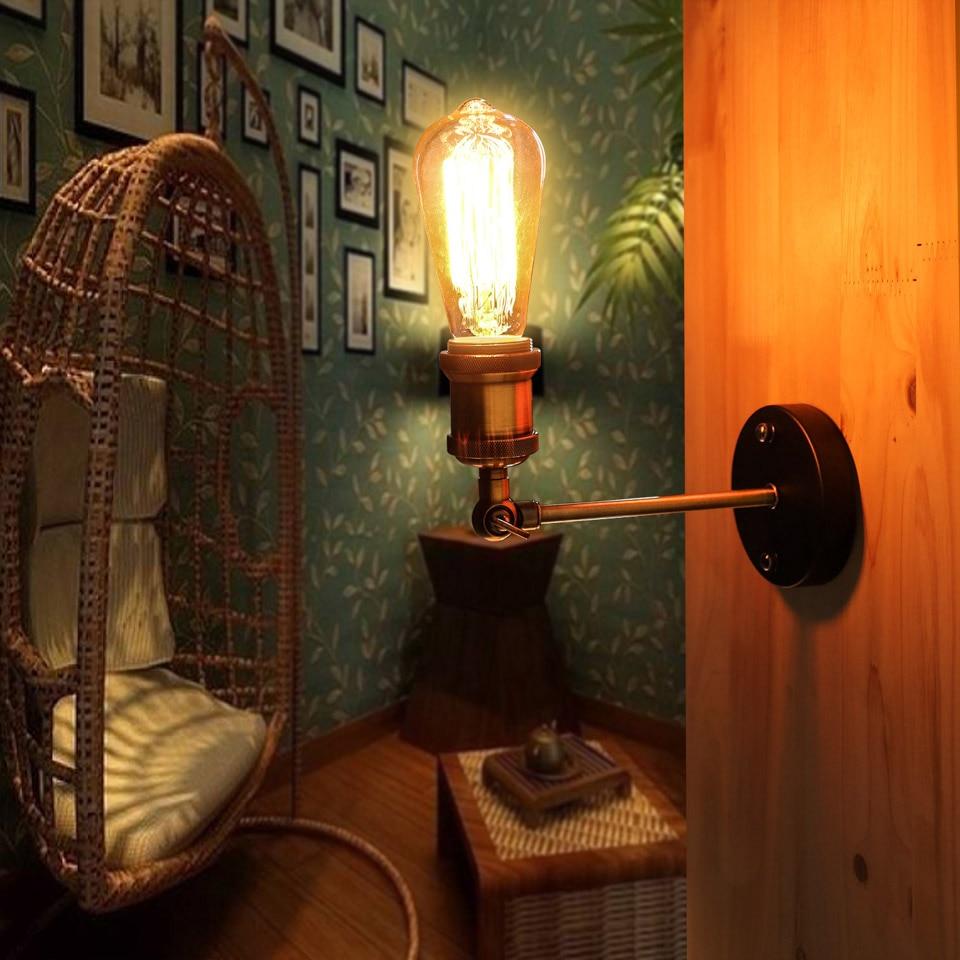 YUENSLIGHTING E27 Retro Vintage Iron Wall Lamp 40W Antique Lampe Lights Indoor Light Small Lamp for Reading Corridor Bar Cafe