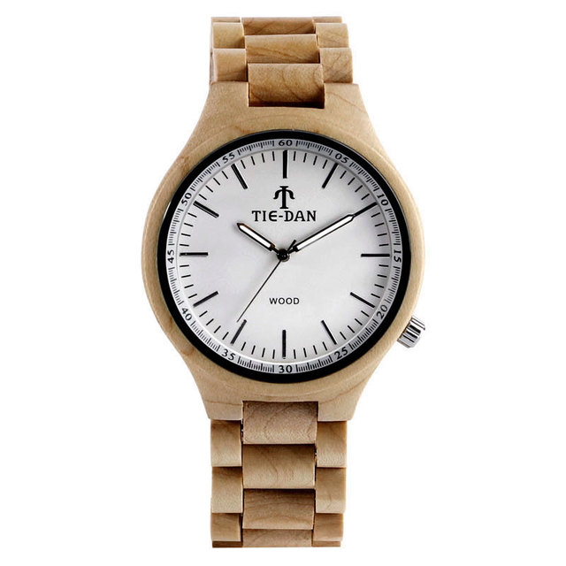 Full Wooden Casual Quartz Wrist Watch Simple Nature Bamboo Cool Men Women Gift Special Clock Unisex