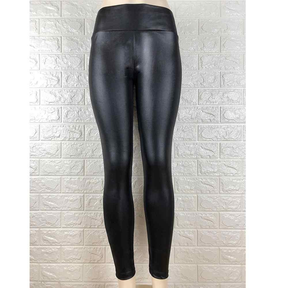 2019 осень зима женские сексуальные черные леггинсы из искусственной кожи попа Леггинсы пуш-ап брюки из искусственной кожи латексные резиновые штаны джеггинсы