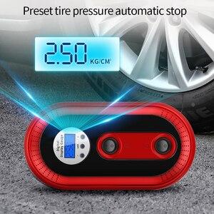Image 3 - Mini pompe à Air Portable pour véhicule, compresseur dair pour véhicule, arrêt automatique et éclairage durgence pour véhicule, outil de réparation