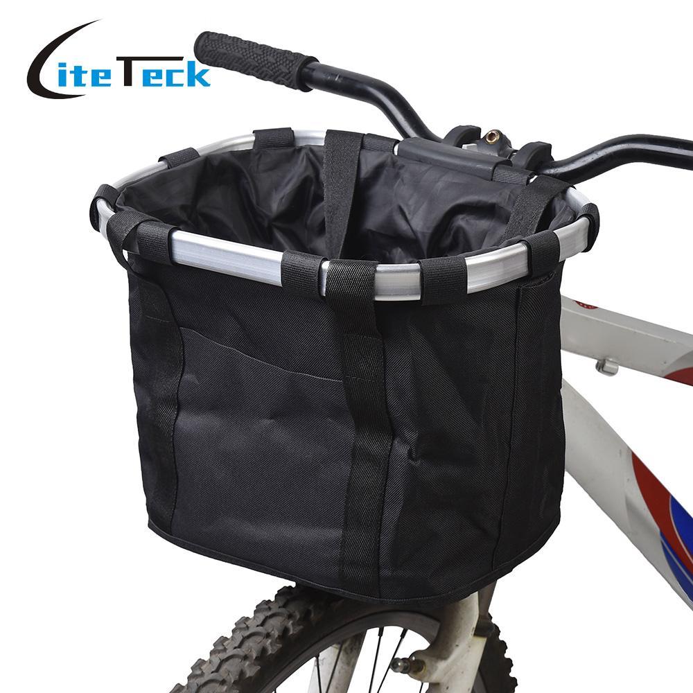 Цена за Велосипед Корзины Высокое Качество Велосипед Рамка Алюминиевого Сплава Pet Перевозчика Велосипед Съемный Цикла Передняя Сумка Для Перевозки Домашних Животных