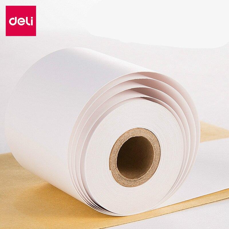 Deli 57*50mm caisse enregistreuse papier rouleau impression thermique pour POS imprimante thermique entreprise maison fournitures Papel Termico 32 \ 100 rouleaux