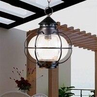 Водостойкий простой современный открытый павильон подвесной светильник большой подвесной светильник балкон коридор лампа двор вилла осве