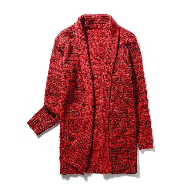 Plus Size 5XL Dos Homens Novos Venda Quente Camisolas 2016 Moda projetado Long Cardigans Magro Serve Para Os Homens Blusas de Inverno Homens Casuais blusas
