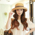 Мода Лето Вс Шляпы Соломенные Шляпы Пляж Шляпа Для Женщин Большой Брим Шляпа С Лентами