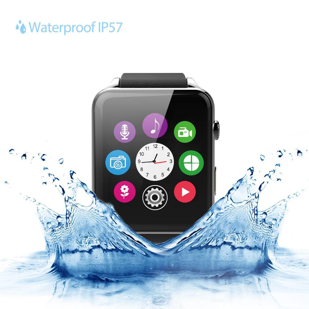 imágenes para Reloj inteligente Android IOS Bluetooth Muñeca Impermeable Reloj Inteligente GSM SMS GPRS Podómetro Brújula Cámara
