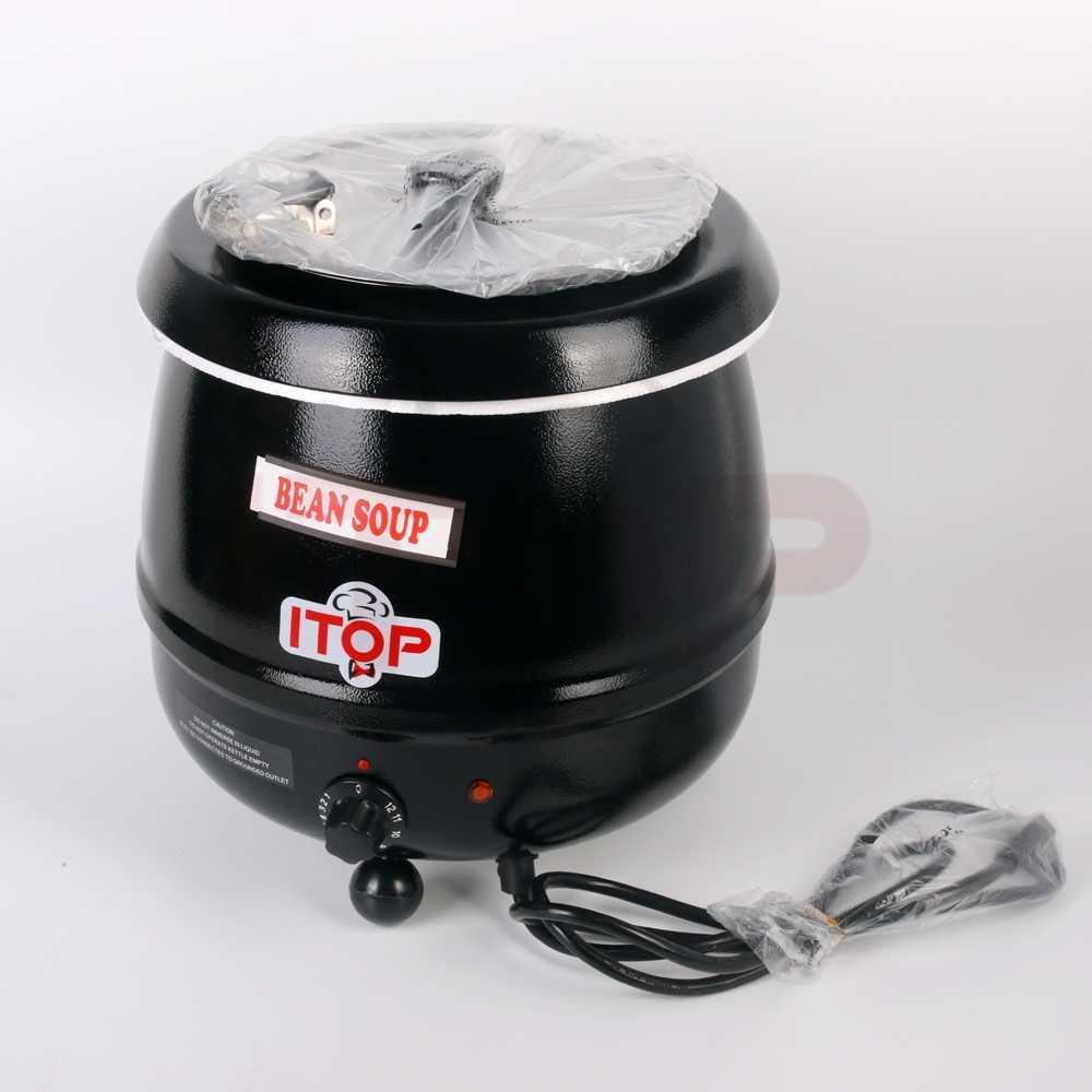 Kualitas Tinggi 10L Electric Soup Kettle Hangat 110 V 220 V Panci Sup Sup Boiler Stainless Steel Mangkuk Makanan Prosesor