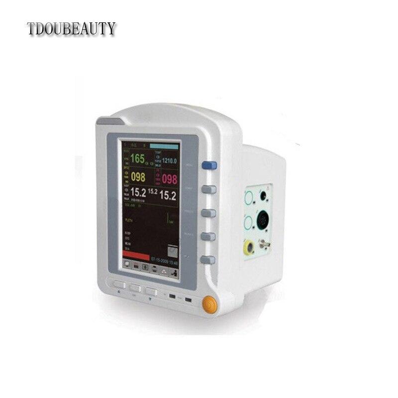 TDOUBEAUTY CMS6500 Portable Vital Signs Patient Monitor ICU,ECG,NIBP,SPO2,TEMP,RESP heliotrop vital q10 104 he794