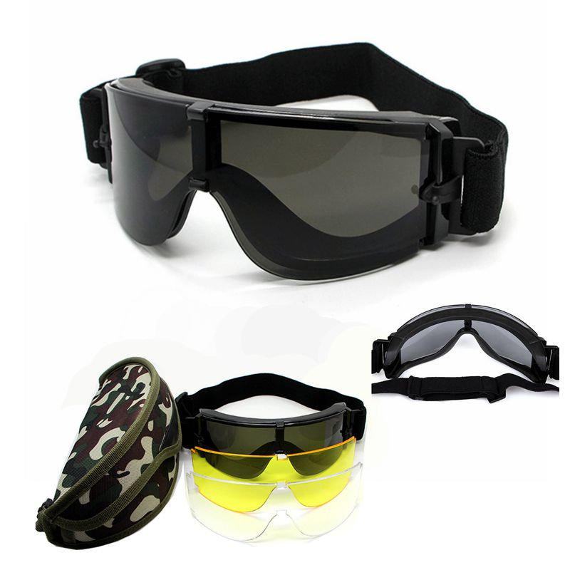 New USMC Airsoft X800 Anti-fog Tactical Cycling Eyewear Sunglasses Paintball War games Goggles Wind-proof mirrors Glasses