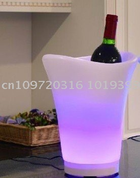 LED ice bucket with 7 color change with remote control
