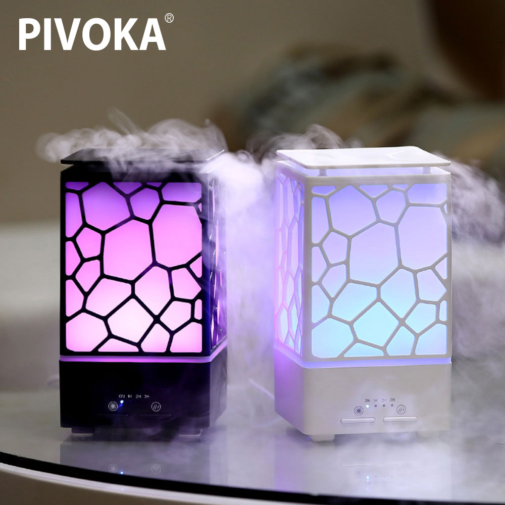 PIVOKA200ml Air Humidifier Aromatherapy Aromatherapy Essential Oil Diffuser USB Ultrasonic Electronic Night Light Chinese Style