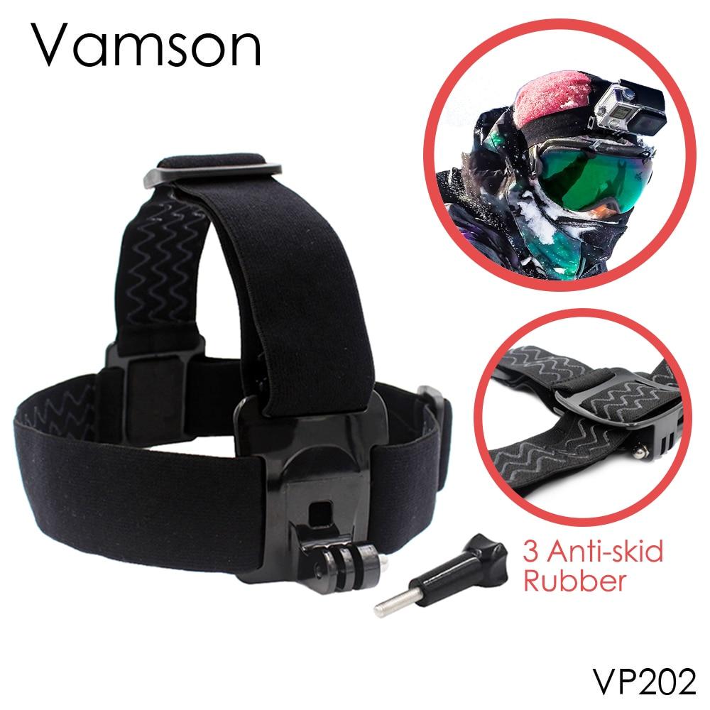 Vamson for Gopro 6 Accessories Head Belt Strap Mount Adjustable For Gopro Hero 6 5 4 3+2 1 for SJCAM for Xiaomi Yi  VP202 аксессуар lumiix gp23 head strap mount 2 for gopro hero 3 3 2 1