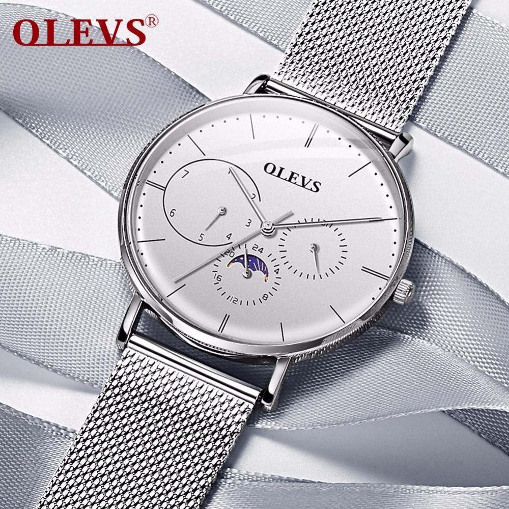 OLEVS top brand Couple watch for lovers Waterproof Clock Luxury Fashion Milan Steel Men Women Watches Quartz Wrist Watch relogio цены