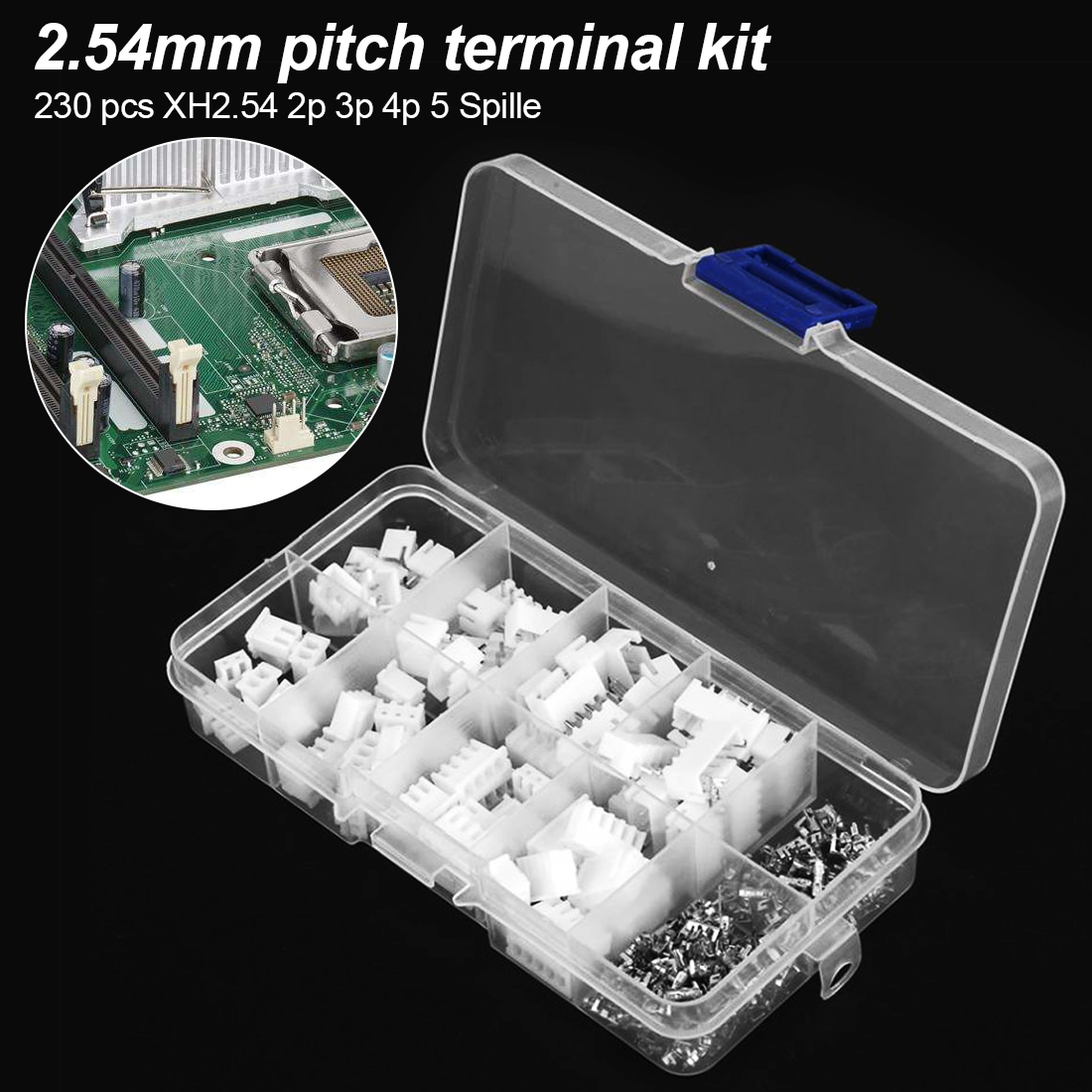 Willwin 20Pcs 50 Pins 2.54mm Pitch Right Angle Connector Pin IDC Box Headers