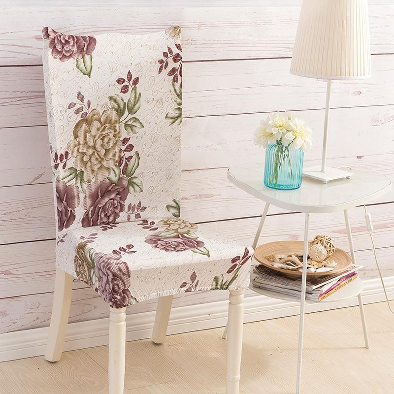 ٩(^‿^)۶Elástico Fundas para sillas conjunto impreso Fundas para ...