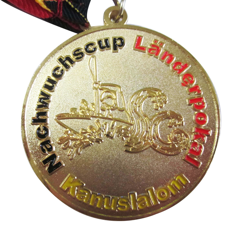 Souvenir Use Promotion Gift Custom Round Nachwuchscup Gold Medal k 200169