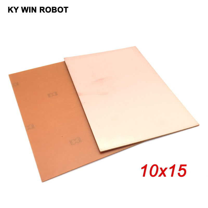 1 шт. ППМ 10*15 см, односторонняя медная плакированная пластина, набор для самостоятельной сборки ПП, ламинированная печатная плата 10x15 см, ...