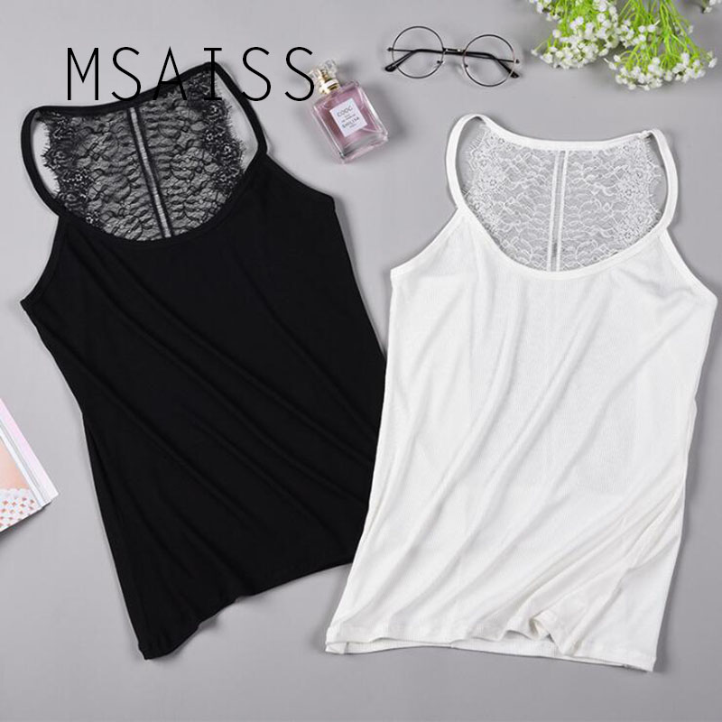 Faithful Msaiss Lace Tops Women Crop Top Summer Vest Crochet Lace Sleeveless Solid Sexy Tank Top Female Tunics Factories And Mines Camis Women's Clothing