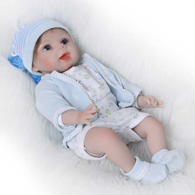 40215f0b5 KEIUMI 22   Silicone Doll Reborn Lifelike Newborn Baby Boy Dolls Stuffed PP  Cotton Boneca Reborn 55 cm Fashion Kids Playmates