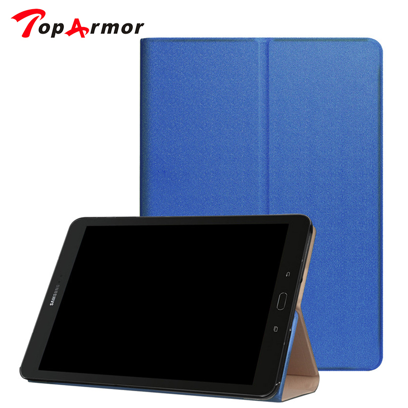TopArmor Case For Samsung Galaxy Tab S3 Case Stand PU Leather Magnetic Cover Case for Samsung Galaxy Tab S3 9.7 T820 T825 Tablet pu leather case cover for samsung galaxy tab 3 10 1 p5200 p5210 p5220 tablet