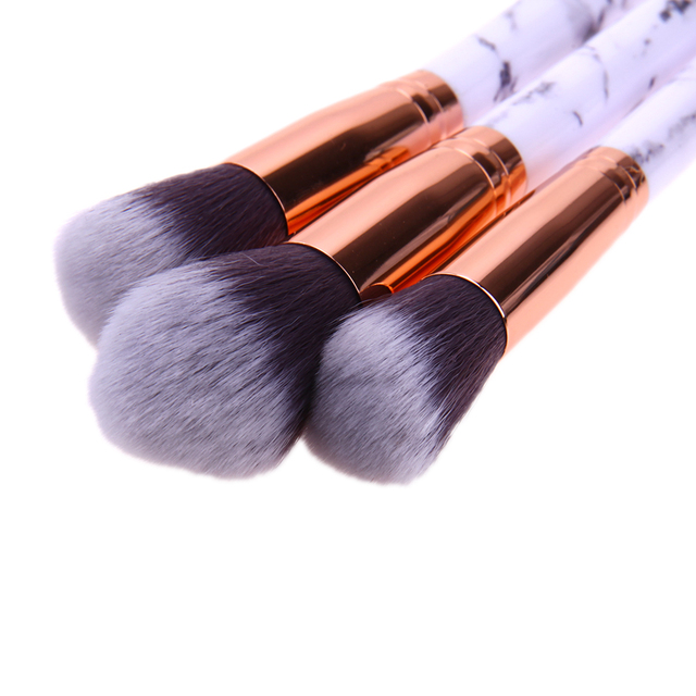 10pcs Marble Patten Makeup Brush for Cosmetic Powder Foundation Eyeshadow Lip Make up Brushes Set Beauty Tool maquiagem