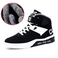 HEINRICH New Winter Sneakers For Men Warm Shoes High-Top Couple