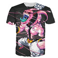 New Fashion hip hop t shirt Black Purple White Anime  Majin Buu 3D Shirt Tees Women Men Tops Print Harajuku T-shirts Men/Women