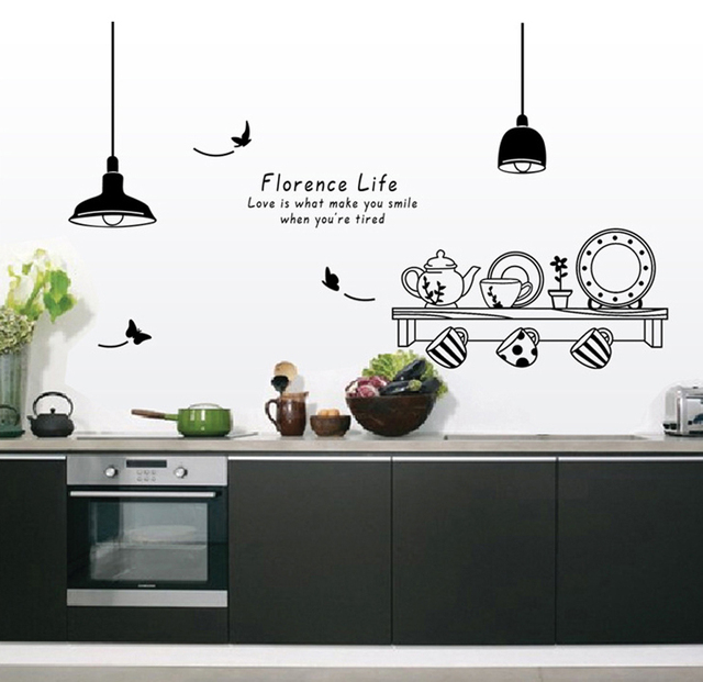 personalized kitchenware tableware wall decals cups saucers and