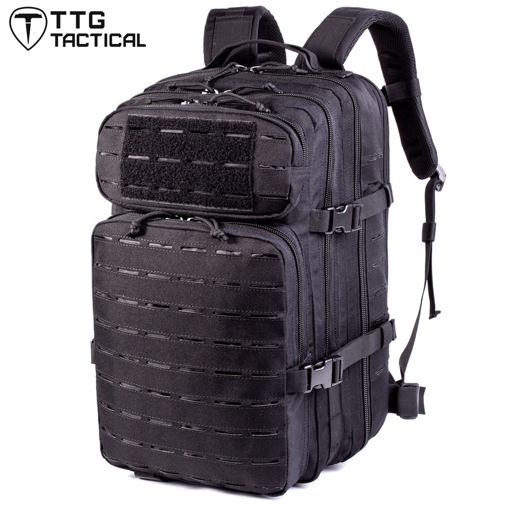 30L Laser Cut Modular Military Backpack MOLLE Army Field Assault Rucksack Military StyleTravel Backpack Fits 15.6 Laptop baigio men backpack military molle assault backpack 3 way modular attachments 50l waterproof bag rucksack male travel bags