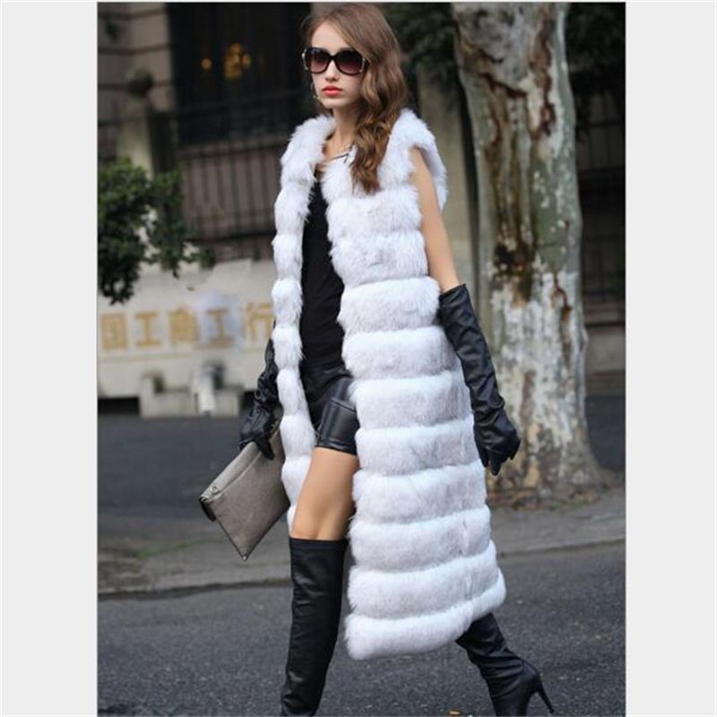 2019 Herbst Winter hochwertige flauschige Imitation Fuchspelz Weste - Damenbekleidung - Foto 3