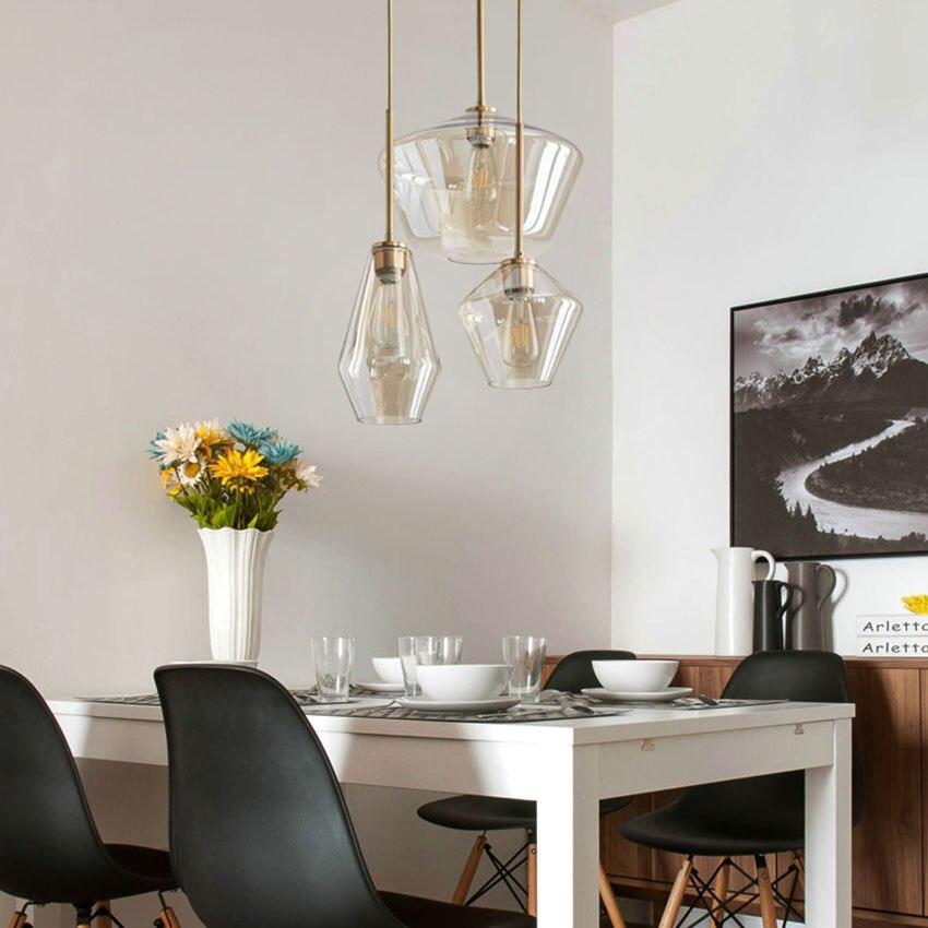Nordic Metal Glass Pendant Lights Modern Led Hanging Lamp Living Restaurant Bedroom Pendant Lamp Indoor Light Fixtures LuminaireNordic Metal Glass Pendant Lights Modern Led Hanging Lamp Living Restaurant Bedroom Pendant Lamp Indoor Light Fixtures Luminaire