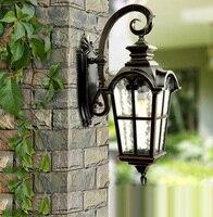 Европа стиль высокого класса напольный светильник садовые фонари водонепроницаемый бра старинные бра содержит светодиодные лампы Бесплат