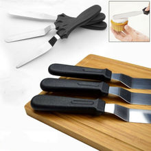 3pcs Stainless Steel Spatula Palette Knife Set Cake Decorating Smooth Tools Kit New