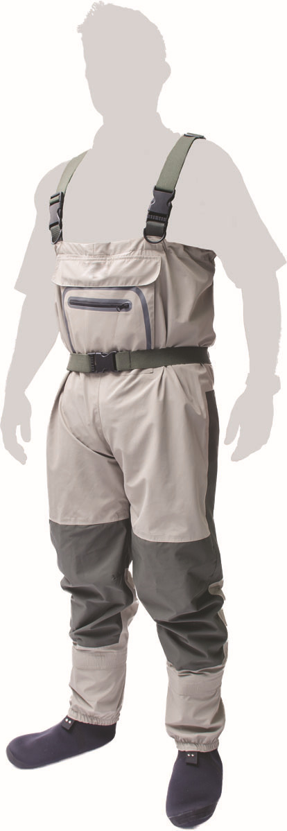 Fisherman strap trousers Manufacturers selling outdoor breathable pant strap rubber waterproof Jumpsuit fishing pants