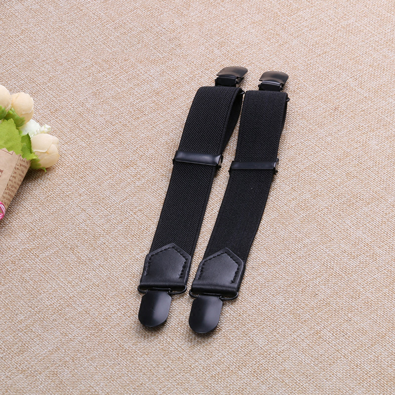 15cm-30cm adjustable suspender for trousers Tube Top Dress plating black clip Genuine leather