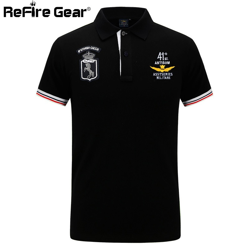 Mens Polo Shirt by Military Online Russian Navy Embroidered Logo