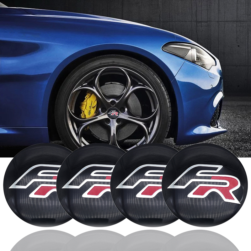 For BMW SEAT Ibiza Leon Altea ABARTH massage 4Pcs 56mm FR Car Wheel Center Hub Caps Center Cover Emblem Badge Sticker