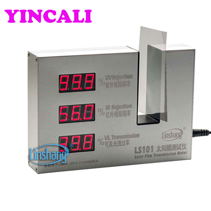 Solar Film Transmission Meter LS101 Window Tint Meter measure and display UV, IR rejection and visible light transmission value