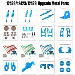 Image 1 - Wltoys 12428 12423 12429 rc carro peças de reposição atualizar metal classis/eixo traseiro/braço/caixa wavefront/engrenagem etc. 12428 peças acessórios