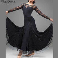 custom New Modern Dance Ballroom Dancing Dress Women Standard lace Waltz/tango/foxtrot Performance Competition Dress