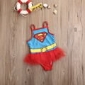 2016 New Hot Kids Superman Summer Sleeveless Swim Bathing Suit Girls Tutu Skirts Swimsuit One-piecs Swimwear