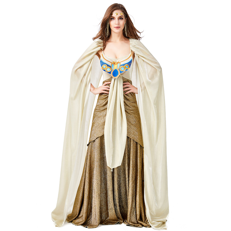 Women Sexy Cleopatra Queen Costume Adult Lady Halloween Carnival Ancient Medieval Egyptian Princess Costumes Fancy Dress Up Suit